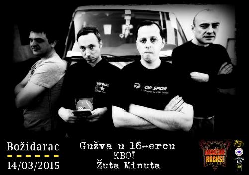 KBO, GUŽVA U 16-ERCU i ŽUTA MINUTA: Punk spektakl u okviru Vračar Rocks festivala! | Božidarac | Beograd | 2015