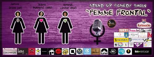 FEMME FRONTAL: Prva ženska STAND UP turneja u regiji! | Sarajevo | 2015