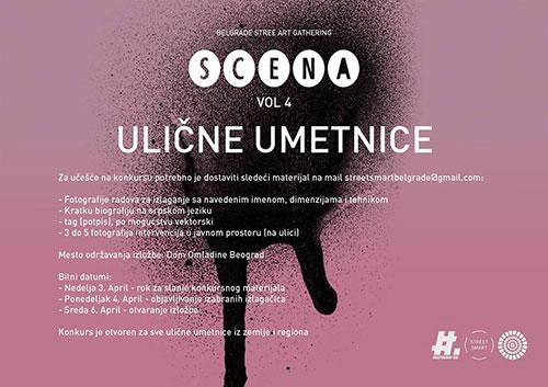 STREET SMART raspisuje konkurs za izložbu SCENA VOL4 | Dom Omladine Beograd
