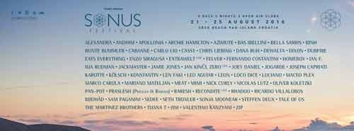 SONUS FESTIVAL 2016 Line Up