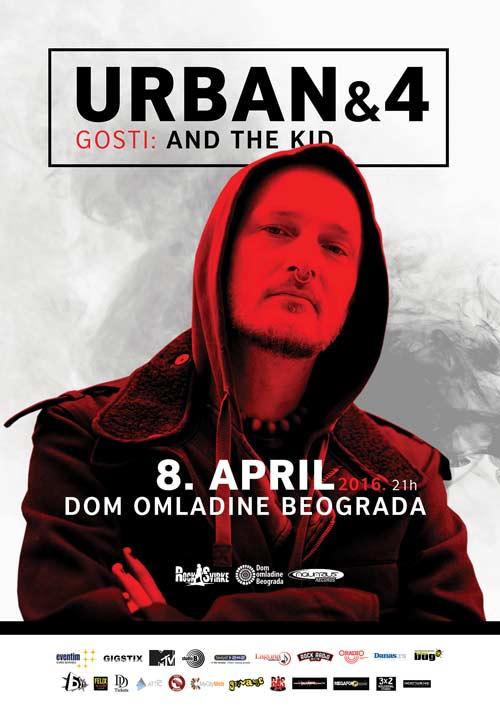 Bend URBAN&4 8. aprila u Domu omladine Beograda | RockSvirke