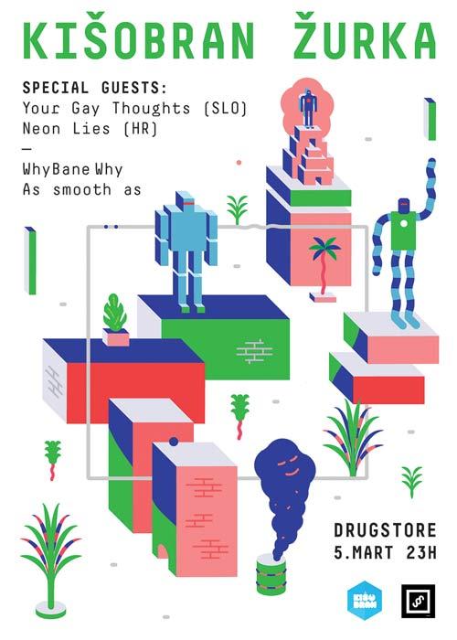 Klub Drugstore: Pravo je vreme za Kišobran žurku!