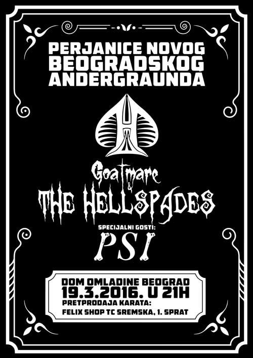 Koncert GOATMARE & THE HELLSPADES u Domu Omladine | Beograd 2016