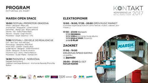 Konferencija KONTAKT - Četvrtak 23. mart 2017 - program