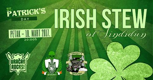 Irish Stew ovog petka u Božidarcu
