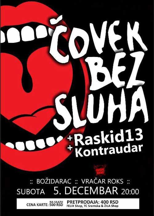 ČOVEK BEZ SLUHA se vraća u Božidarac! | Koncert | Beograd 2015