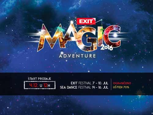 Najpovoljnije ulaznice za Exit samo za najbrže u petak u podne! Exit avantura 2016