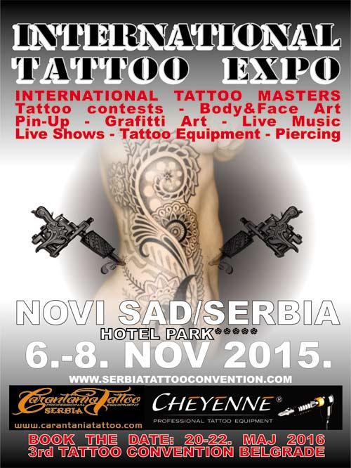 International Tattoo Expo: 150 najboljih Tattoo artista Srbije, ex-YU i Evrope u Novom Sadu! 2015