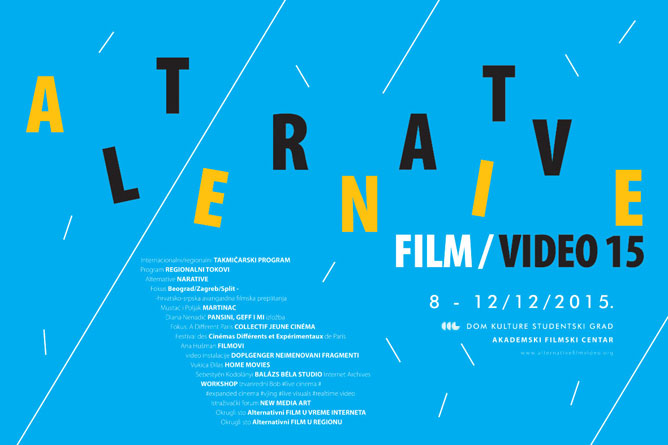 Alternative film/video 2015: Festival novog filma i videa od 08-12. decembra u DKSG!