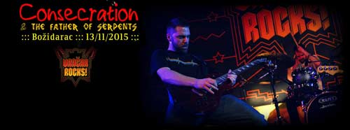 CONSECRATION: Jedan od najboljih live bendova u Srbiji promoviše peti studijski album! | Vračar Rocks 2015