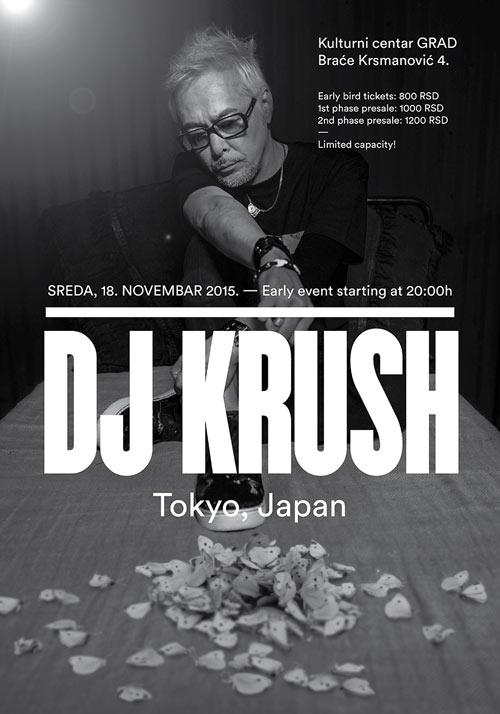 DJ KRUSH: Japanski umetnik na svetskoj turneji povodom promocije albuma BUTTERFLY EFFECT | KC GRAD 2015
