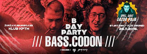 BASS CODON rođendanska žurka