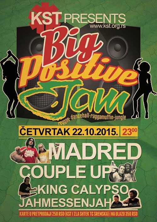 Big Positive Jam: Veliki Reggae Fest u KST-u! | Beograd 2015