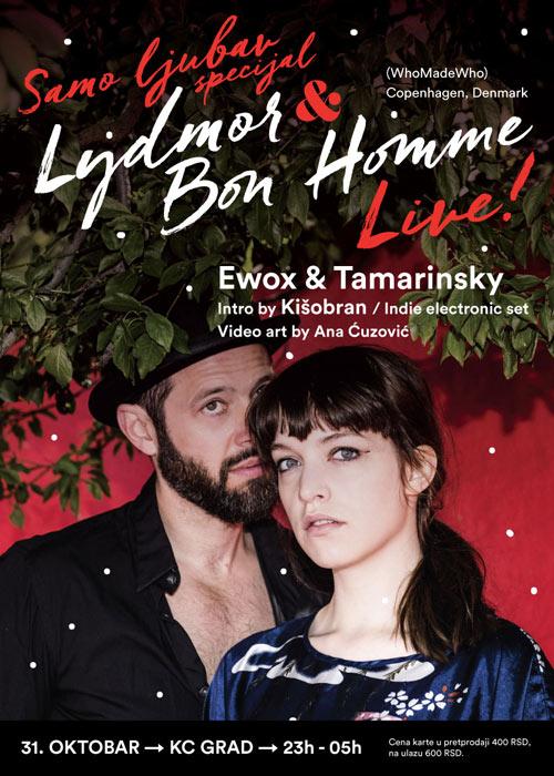 LYDMOR & BON HOMME (WhoMadeWho): Skandinavska elektronska muzika u KC GRADu! Beograd 2015