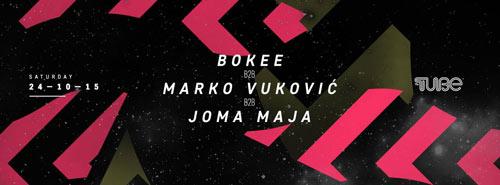 Bokee b2b Marko Vuković b2b Joma Maja: Trio sa Urban BUG stage-a stiže u klub THE TUBE! | Beograd 2015