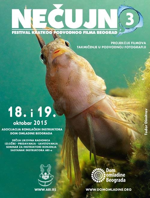NEČUJNO 3: Treći festival kratkog podvodnog filma! | Dom omladine | Asocijacije Ronilačkih Instruktora