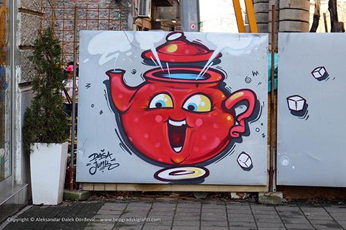 Grafit Veseli čajnik na Vračaru