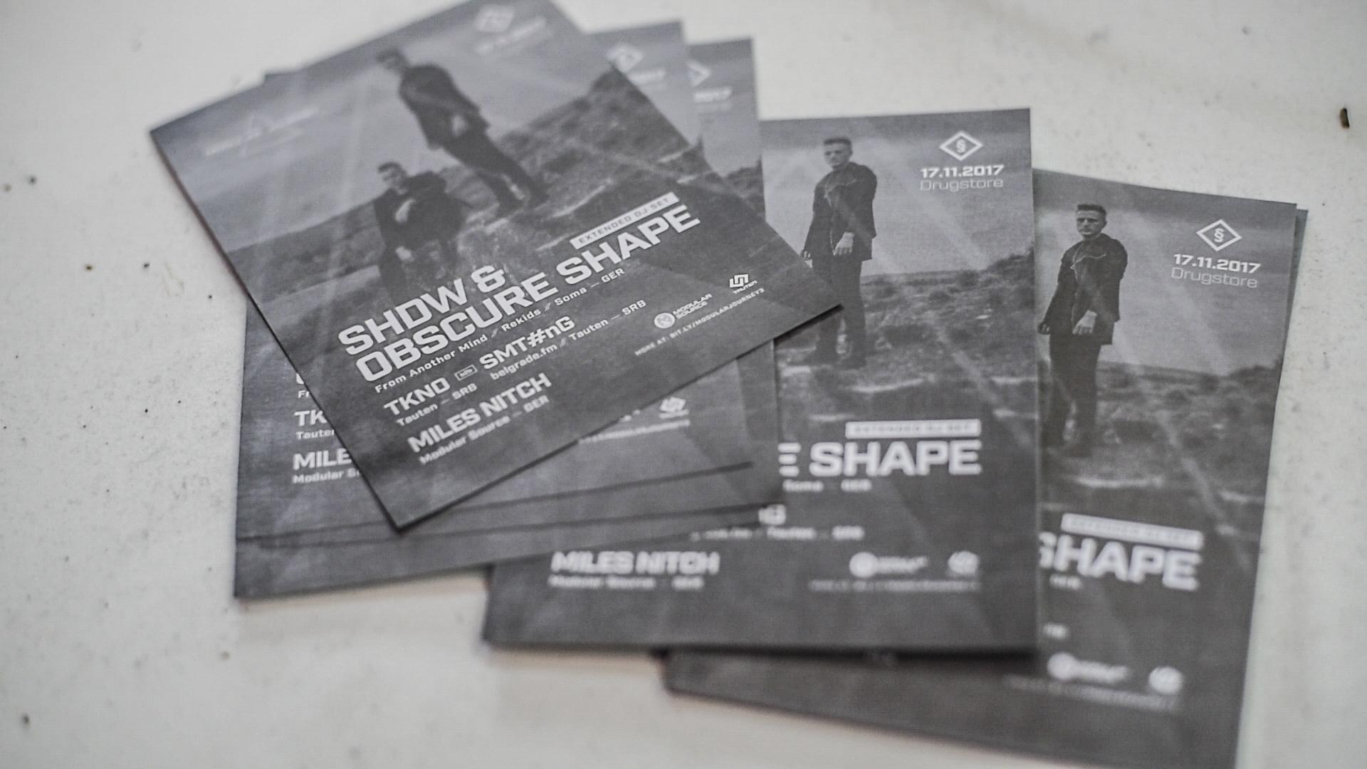 SHDW & Obscure Shape, Klub Drugstore Beograd