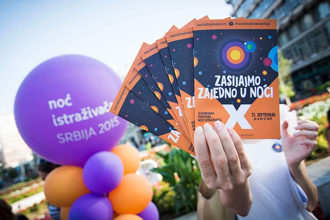 Zasijajmo zajedno u Noći: Počinje 6. Noć istraživača! Beograd 2015