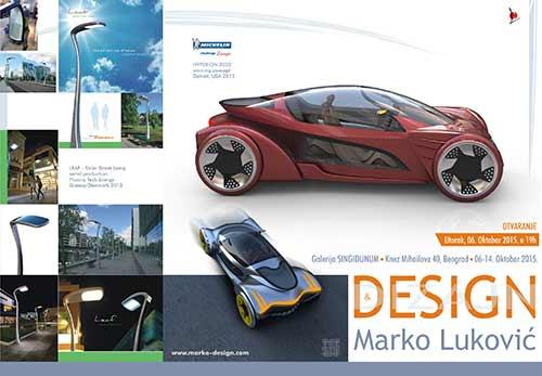 Design&Dizajn: Izložba industrijskog dizajna Marka Lukovića | Galerija Singidunum, Beograd 2015
