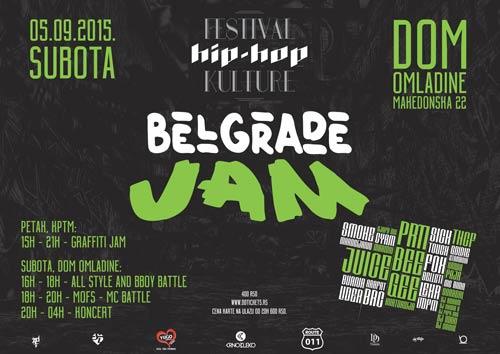 BELGRADE JAM: Zbog neizvesnih vremenskih prilika festival premešten u Dom omladine!