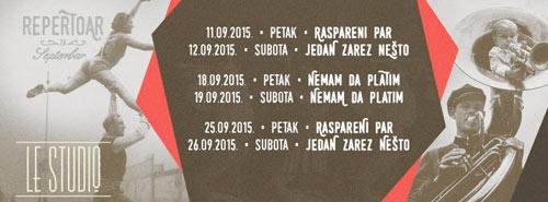 Teatar Le Studio otvara svoju treću sezonu! Program za septembar