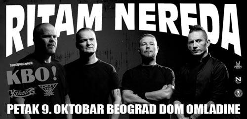 RITAM NEREDA: Dugo očekivani koncert legendarnog novosadskog benda u Beogradu! Dom omladine 2015