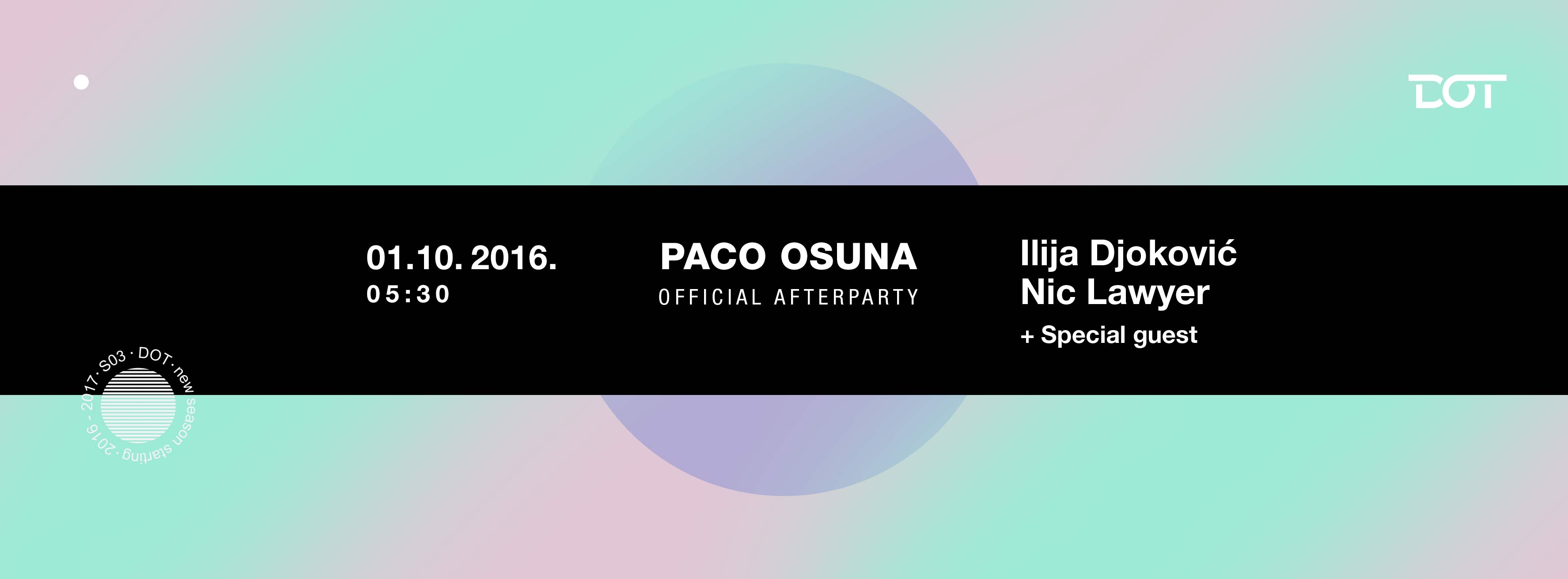 Paco Osuna afterparty u DOTu
