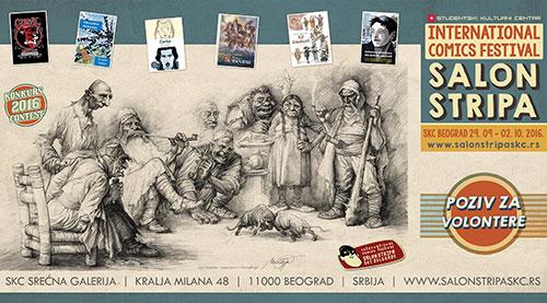 Međunarodni salon stripa - konkurs za volontere