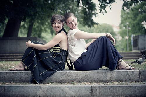 Susana Santos Silva i Kaja Draksler / Foto: Petra Cvelbar
